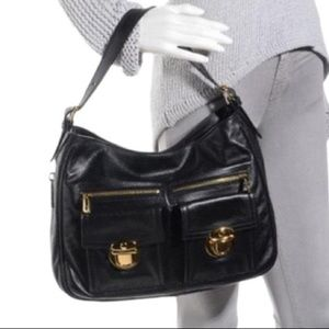 Marc Jacobs Collection Black Soft Leather Hobo Bag